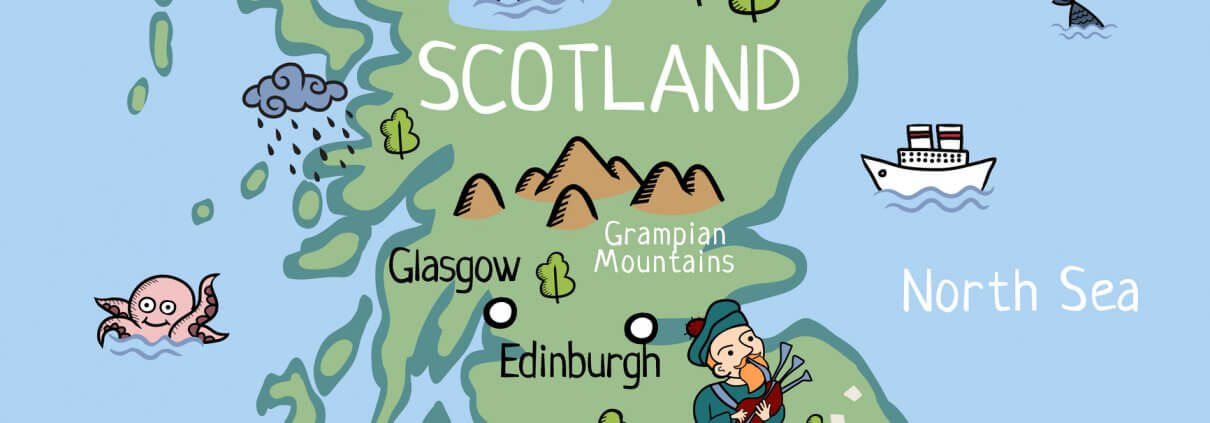 Schotland kaart