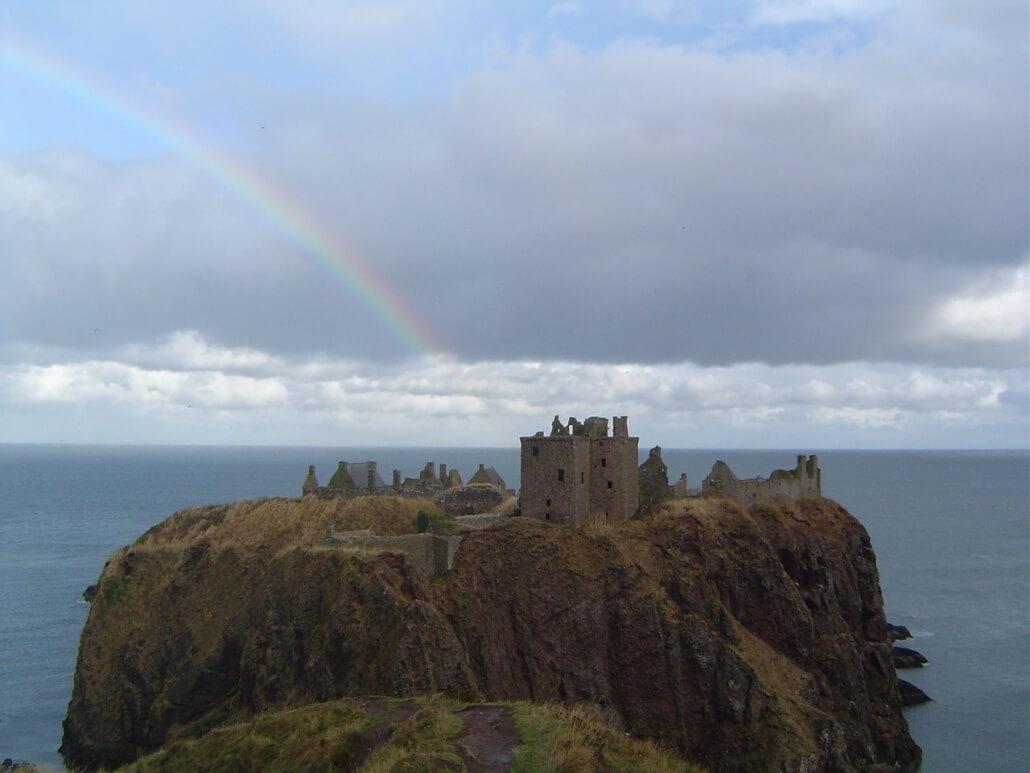Dunnottar Castle ruines aan de Schotse kust bij Stonehaven