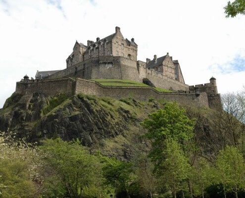 Edinburgh Castle op berg