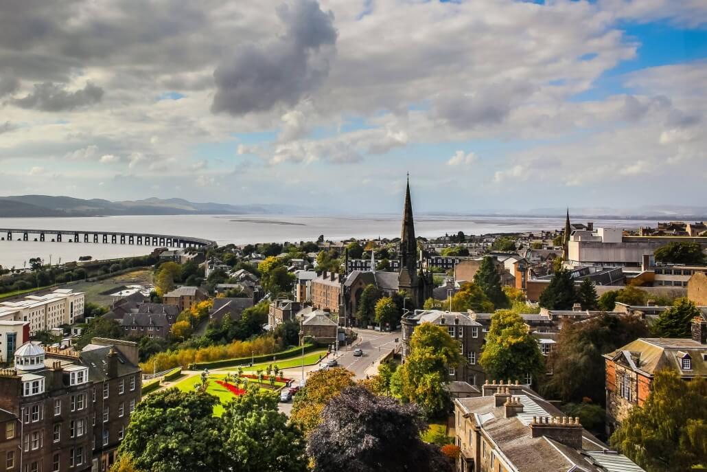 Uitzicht over Dundee